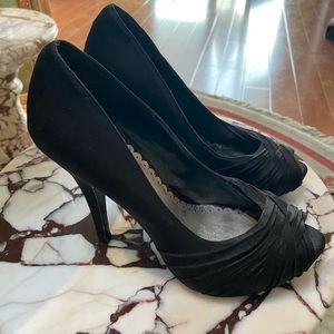 Lulu Townsend Beautiful Black Heels with Platform